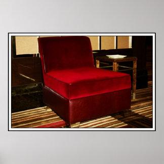 Red Velvet Chair Posters