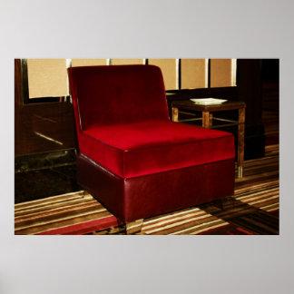 Red Velvet Chair Print
