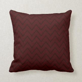 Red Velvet Chevron Lines Throw Pillow