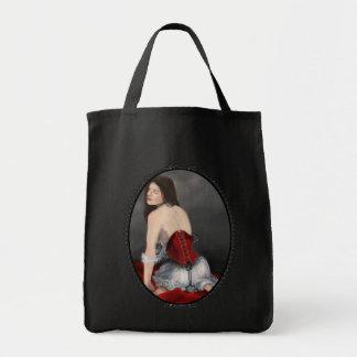Red Velvet Corset Tote Bag