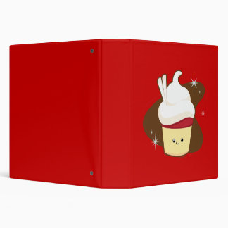 Red Velvet Cupcake. 3 Ring Binder