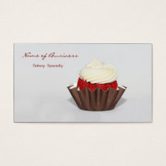 Red Velvet Cupcake Bakery Business Card at Zazzle