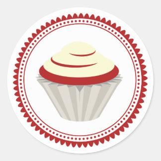 Red Velvet Cupcake Envelope Seal Sticker