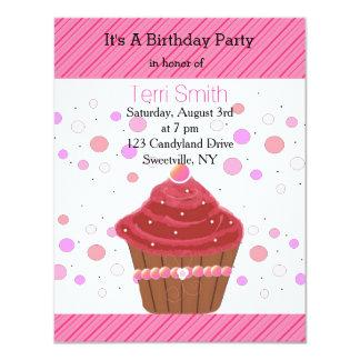 Red Velvet Cupcake Invitation