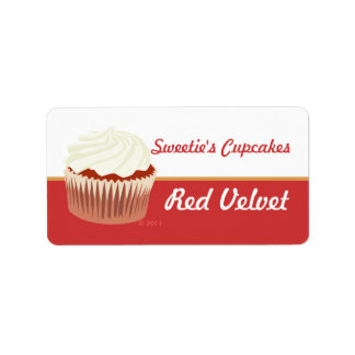 Red Velvet Cupcake Labels