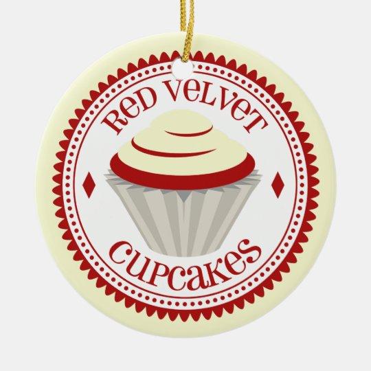 Red Velvet Cupcake Ornament