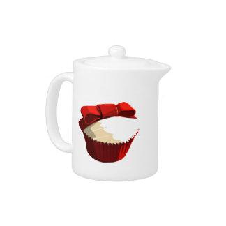 Red velvet cupcake teapot