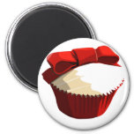 Red velvet cupcake template products fridge magnets