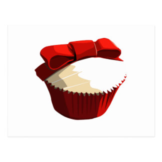 Red velvet cupcake template products postcard