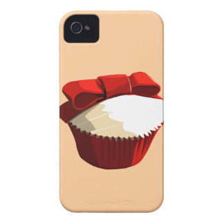 Red velvet cupcake with bow Blackberry Bold case