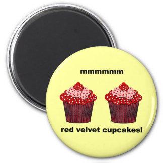red velvet cupcakes magnet