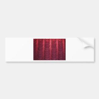 Red Velvet Curtain Bumper Sticker