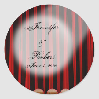 Red Velvet Curtain Stage Wedding Envelope Seal