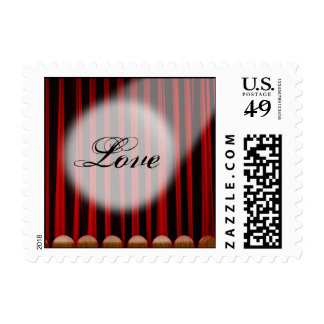 Red Velvet Curtain Stage Wedding Postage