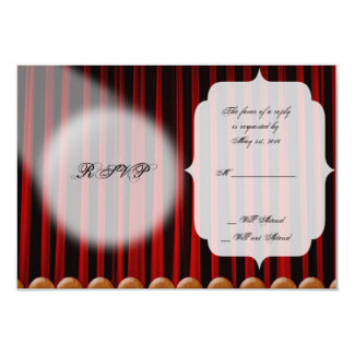 Red Velvet Curtain Stage Wedding Response Card