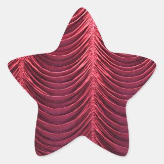 Red Velvet Curtain Star Sticker