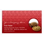 Red Velvet Damask Desserts Business Business Card Templates