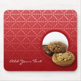 Red Velvet Damask Desserts Business Mousepads