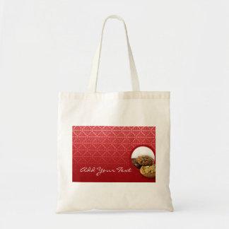 Red Velvet Damask Desserts Business Tote Bag