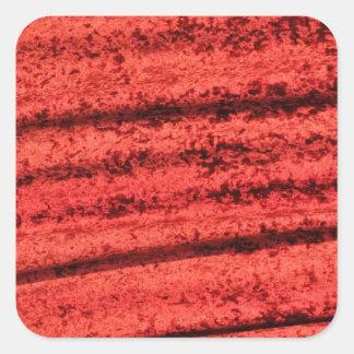 Red velvet design square sticker
