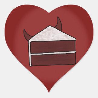 Red Velvet Devil Cake Heart Sticker