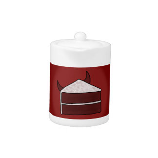 Red Velvet Devil Cake Teapot