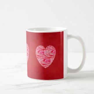 Red Velvet Heart of Roses Coffee Mug