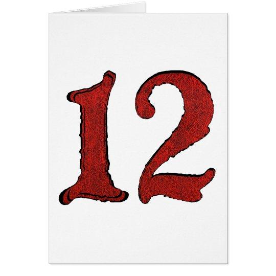 Red Velvet Holiday Number Series. Card