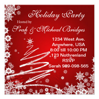 Red Velvet Holiday Party invitation