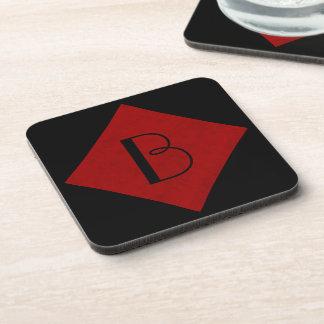 Red Velvet Personalized Home Casino Beverage Coaster