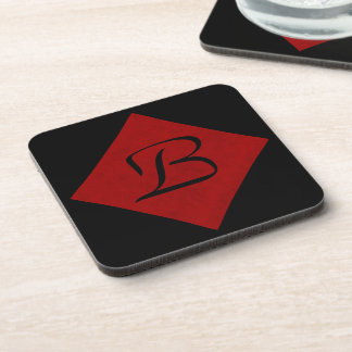 Red Velvet Personalized Home Casino Beverage Coasters