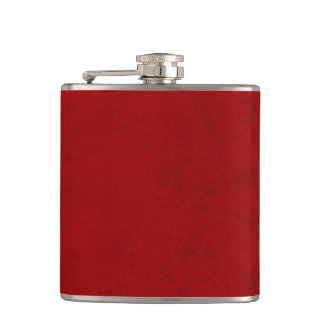 Red Velvet Personalized Home Casino Hip Flask