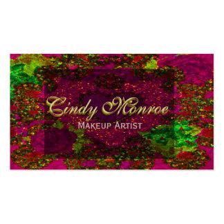 Red Velvet Rose Glitter w/ Heart Business Card Template