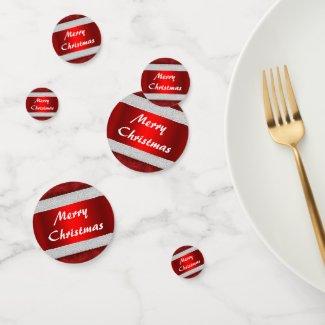 Red Velvet Santa Suit Christmas Confetti