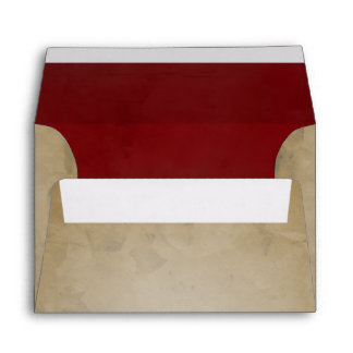 Red Velvet Texture Vintage Paper A6 Envelopes