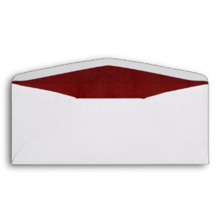 Red Velvet Textured Lining #10 Envelope