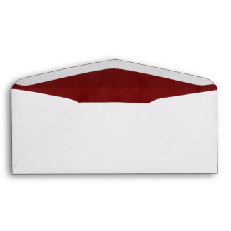 Red Velvet Textured Lining #9 Envelope