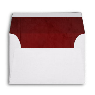 Red Velvet Textured Lining A6 Envelope