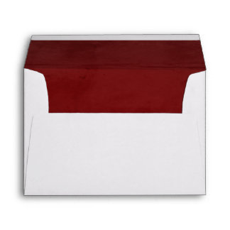 Red Velvet Textured Lining A7 Envelope