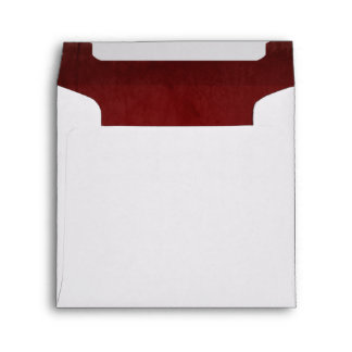Red Velvet Textured Lining Square Envelope