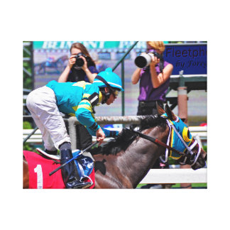 Red Velvet wins the Jersey Girl at Belmont Park Stretched Canvas Prints