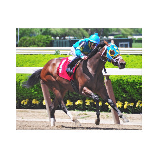 Red Velvet wins the Jersey Girl at Belmont Park Canvas Print