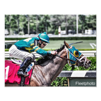 Red Velvet wins the Jersey Girl at Belmont Park Photo Print