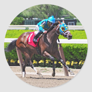 Red Velvet wins the Jersey Girl Stakes Classic Round Sticker