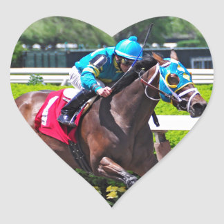 Red Velvet wins the Jersey Girl Stakes Heart Sticker