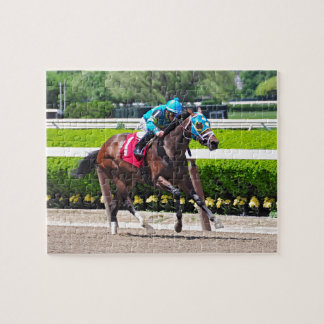 Red Velvet wins the Jersey Girl Stakes Jigsaw Puzzle