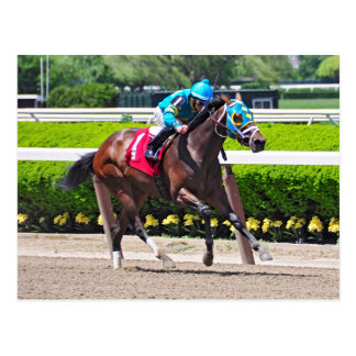Red Velvet wins the Jersey Girl Stakes Postcard