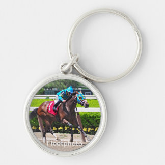 Red Velvet wins the Jersey Girl Stakes Silver-Colored Round Keychain