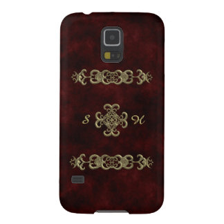 Red Velvet With Golden Ornament Galaxy S5 Case