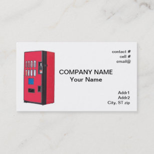 Vending business cards zazzle red vending machine business card colourmoves